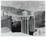Julius Shulman-Towers at Boulder Dam, First Filling 1936
