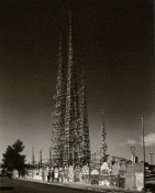Julius Shulman - The Watts Tower, Los Angeles, Simon Rodia. 1966