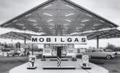 Julius Shulman- Mobil Gas Station, Disneyland - Smith & Williams