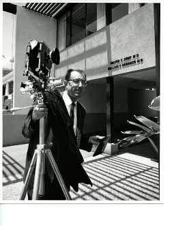 Julius Shulman - Self Portrait, On Assignment in Los Angeles, Ca