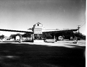 "Julius Shulman, Vintage ""Cantilevered Gas Station"""
