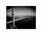 Julius Shulman-Vintage,Golden Gate Bridge/US Navy Battleship1933