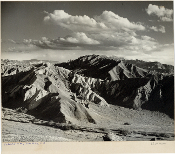Julius Shulman-Vintage- Zabriskie Point, Death Valley, Ca.  1947