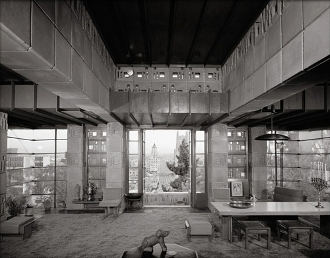 Julius Shulman-Freeman House,Frank Lloyd Wright, Montecito,1953