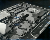 Julius Shulman-Jewish Federation Community Center Model-L.A.