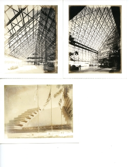 Julius Shulman- (3) Polaroid Images - Filmland Corp. Center