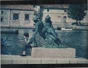 Julius Shulman- The Thinker at the Fountain, Dubrovnik, Croatia
