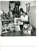 Julius Shulman-At His Studio-Kuhn House and Other Assignments