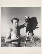Julius Shulman-Self Portrait, On Assignment in Arizona, 1942
