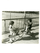 Julius Shulman - 4 Vintage Children at School Playground