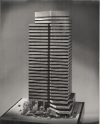 Julius Shulman -  2 Prints, High Rise Architecture Model
